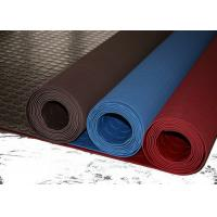 Quality Red Industrial Rubber Sheet Top Round Button , Bottom Impression Fabric Non Slip for sale