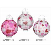 Quality 20cm Paper Wedding Decorations , Pink And Purple Paper Lanterns For Outdoor Party for sale