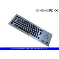 Quality LED Backlight Industrial Stainless Steel Keyboard with Trackball , 64 Keys for sale