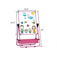 China Kids Art Easel Double Sided Whiteboard & Chalkboard 360°Rotating Easel Stand on sale