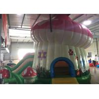 Quality Kids Home Small Inflatable Bounce House Combo With Slide Party Mushroom Castle for sale