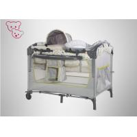 Quality Modern Designbaby Trend Play Yard , Carry Cot Black And White Playpen Steel Frame for sale
