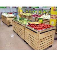 Quality Custom grocery Store / Supermarket Wooden Display Rack L1000*W1000*H850 mm for sale