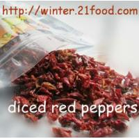 Quality dried red bell pepper granules 002 for sale