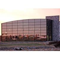 Quality Architectural Steel Frame Building Kits With Massive Glass Curtain Wall for sale
