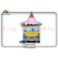 Quality Commercial Colorful PVC Ice Cream Van Inflatable Jumping Castle Kids Jumping Space for sale