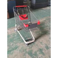 Coated Metal Steel Grocery Store Powder Shopping Trolley With 4 Wheel , SGS /