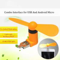 Buy cheap 2016 New products 2 in 1 OTG micro mini usb fan for cell Phones and usb port from wholesalers
