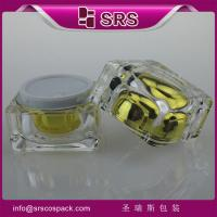 Quality clear empty square acrylic jars for skin care cream ,transparent plastic packaging for sale