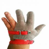 Quality Three Finger Stainless Steel Mesh Chainmail Glove for sale