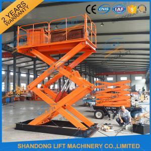 Quality 1T 5.5M Hydraulic Heavy Duty Scissor Lift Electric Home Scissor Lift Platform With CE for sale