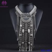 Quality Bohemian Vintage Tribal Collar Statement Necklace Chunky Tassel Chain Pendant for sale