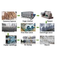 Buy cheap Cassava processing factory cassava starch and flour processing machines from wholesalers