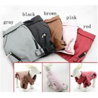 Quality Pet Clothing Dog Leather Jackets Blank Style Dog Jacket For Whippet , Harrier for sale