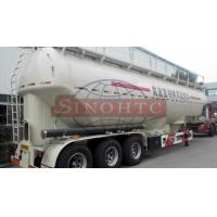 Quality 3 Axle Powder / Dry Bulk Tank Trailers , 50 000 Liters flour tanker semi trailer for sale
