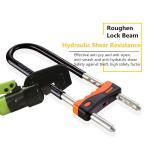 Quality Length Adjustable U Type Lock For Double Open Glass Door / Push - Pull Door for sale