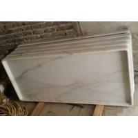 Quality Non-Slip Marble Shower Base, Guangxi White Marble Shower Tray, China Carrara Marble Shower Tray for sale