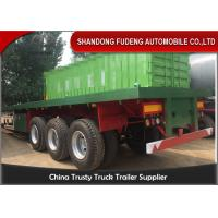 Quality 3 Axles 40ft Container Flatbed Trailer With 12 Twist Locks , Flat Bed Semi Trailer for sale