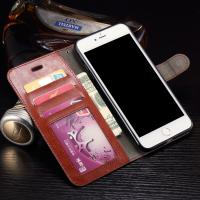 Quality Wallet Stand Leather Protective Case , Anti - Dirt Iphone 7 Plus Leather Wallet Case for sale