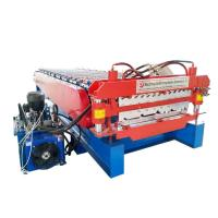 Buy Double Trapezoidal Tile Wall Corrugated Sheet Roll Forming Machine Fully at wholesale prices