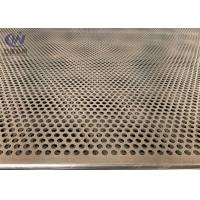 Quality Mild Steel 5mm Hole 2mm Pitch Perforated Metal Cladding Panels With Galvanized Coated for sale