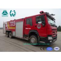 Quality Howo 266 Hp Emergency Rescue Fire Fighting Truck  6 X 4 With High Pressure Pump for sale
