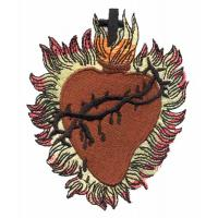 Quality Embroidery digitizing service for custom patch cross and heart S1080507102 for sale