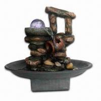 Quality Polyresin Fountain with LED Light and Rolling Ball for sale