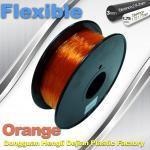 Quality Orange 3.0mm / 1.75mm Rubber  Flexible 1.0KG / Rolls 3D Printer Filament for sale