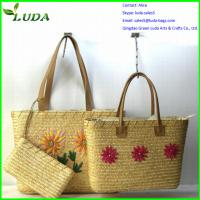 Quality 2014 popular cheap wheat straw bags for crafts for sale