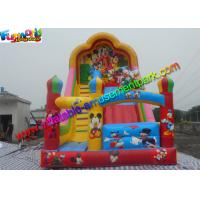 Quality Popular Mickey Mouse Commercial Inflatable Slide , Blow up Slide 7L x 4W x 6H Meter for sale