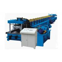 Quality Thickness 1-3 MM Z Purlin Forming Machine , Hydraulic Drive Purlin Making Machine Blue Color for sale