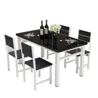 China Modern Tempered Glass Top Dining Room Table High Temperature Resistant on sale