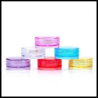 Quality Round Plastic Cosmetic Cream Jar Small Make Up Cotainers Colorful 2g Capacity for sale