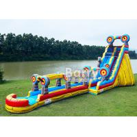 Quality Animal Theme Inflatable Water Slides , Customized Size 25 FT Target Slip N Slide for sale
