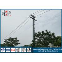 Quality 10KV Hot Dip Galvanized Electrical Power Pole Made Of Hot Roll Steel Q235 for sale