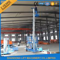 Quality 8m 100kg Single Mast Aerial Work Platform Lift for Window Cleaning 100kg Capacity for sale