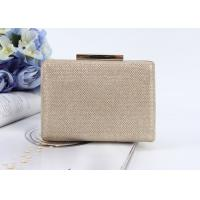 Quality Women Glitter Evening Bag PU Clutch Shoulder Bag Metal Chain Bridal Cocktail Handbags for sale