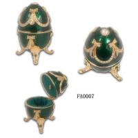 Quality Faberge Egg Jewelry Box Faberge egg Jewelry Boxes for Ring for sale
