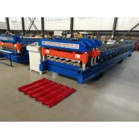 Quality Servo Motor Glazed Tile Roll Forming Machine 4 Meter / Min With 18 Rows for sale