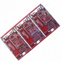 Quality Red solder mask 6 layers circuit board for sale