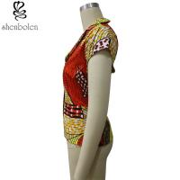 d21f268b201d69 ... Buy Multi Color Short Sleeve African Print Tops Designs , African Style  Women Shirts at wholesale ...