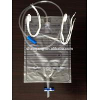 China urine bag T valve with hanger on sale