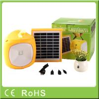 Portable 2600mah lithium with AC charger led solar rechargeable lantern