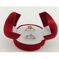 Quality double rings velvet box for sale