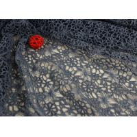 Quality Flower Dying Lace Fabric Water Soluble Polyester Guipure Lace Fabric By The Yard for sale