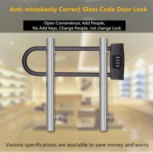 U - Shaped Double Open Glass Door Lock , Four Digits Password Intelligent Door Lock
