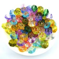 Quality Wholesale acrylic octagon beads mix colors to option. for sale