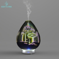Quality Office Ultrasonic 14 Hours 3d Glass Aroma Diffuser for sale