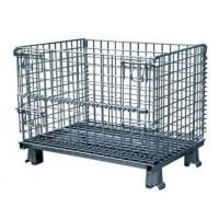 Quality Durable Collapsible Wire Container , Steel Storage Bins For Auto Parts Manufacturing , Hardware Industry for sale